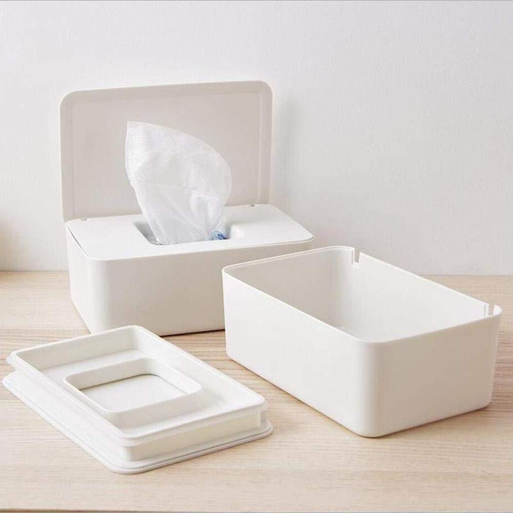 Feuchtt/ücherbox Pfleget/ücher-Boxen Feuchtt/ücher Aufbewahrungsbox Feuchtt/ücher Spender Feuchttuchbox Papieretui B/üro Serviettenbox mit Deckel f/ür Zuhause