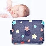 Gio Pillow 3D Air Mesh Baby Pillow, Head Shaping Pillow, Flat Head Syndrome Prevention [Navy Star/Medium]