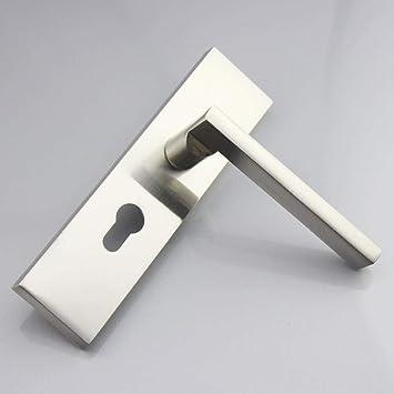 Cubierta de la manija recta cerradura de puerta triangular inclinado Lock Lengua Lengua de cobre puro de cilindro-35-50mm exteriores izquierdo sin la llave de cerradura de puerta K con la Secci/ón 50