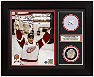 Steve Yzerman Red Wings 2002 Stanley Cup Signed & Game Used Net 20x24 F