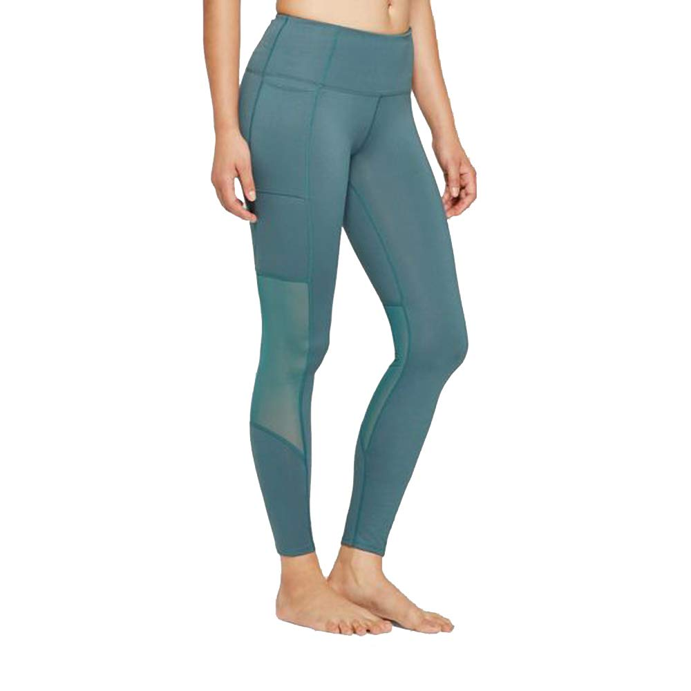 660bfea70c75bb JoyLab Women's Comfort High-Waisted 7/8 Leggings with Mesh Panel and Side  Pockets, (Mediterranean Blue) (XX-Large) at Amazon Women's Clothing store: