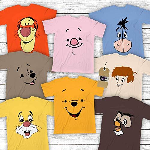 Winnie-Pooh-Friends Halloween Group costume Tiger-Piglet-Eeyore-Kanga-Roo-Rabbit-Pooh-Owl-Christopher-Robin Customized Handmade