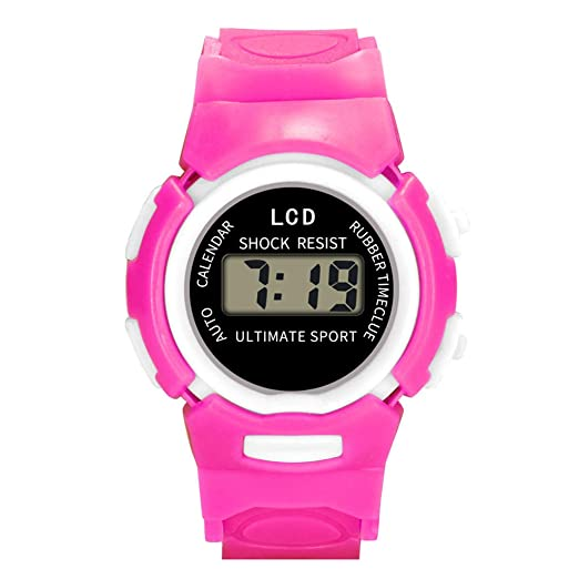 Children's Watches Children Girls Analog Digital Sport Led Electronic Waterproof Wrist Watch New