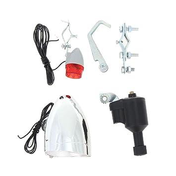 8106c91a2 Starnearby Luces de la Bicicleta Kit del Sistema de Seguridad Kit Luz LED para  bicicleta faro delantero y trasero luminoso(No Necesita Pilas): Amazon.es:  ...