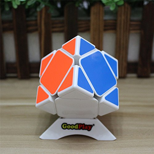 GoodPlay Newest ShengShou Aurora Skewb White Magic Cube 3D Intelligence Smooth Brain Teaser Twist Puzzle Speed Cube Puzzle White + One Cube ()