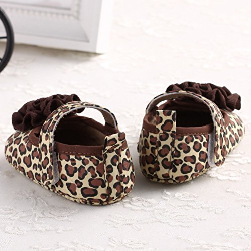 Soled Princess First Jane Walker Leopard Crib Mary Anti Shoes Baby Soft Slip Girl Flower wxPW5YS