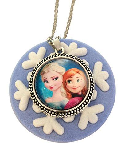 Harper Olivia Anna and Elsa Frozen Snowflake Necklace