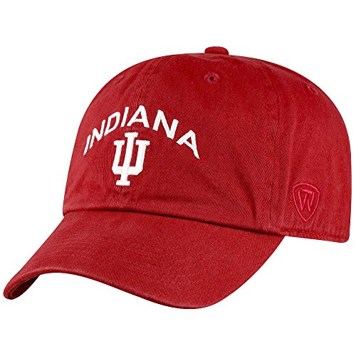 Top of the World Indiana Hoosiers Men's Hat Arch, Cardinal, Adjustable