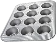 USA Pan (1200MF) Bakeware Cupcake and Muffin Pan, 12 Well, Nonstick & Quick Release Coating, Made in the U
