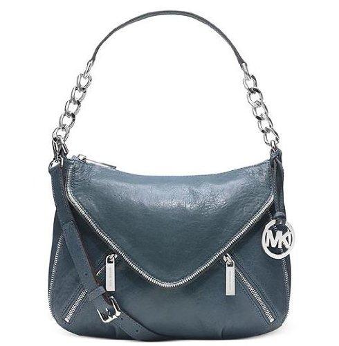 Michael Kors Odette Zip Medium Convertible Shoulder Bag DENIM