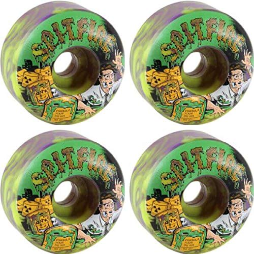 リーク差し控える武装解除Spitfire Wheels Formula Four Classic Toxic Apocalypse Purple/Greenスケートボードホイール – 56 mm 99 a (Set of 4 )