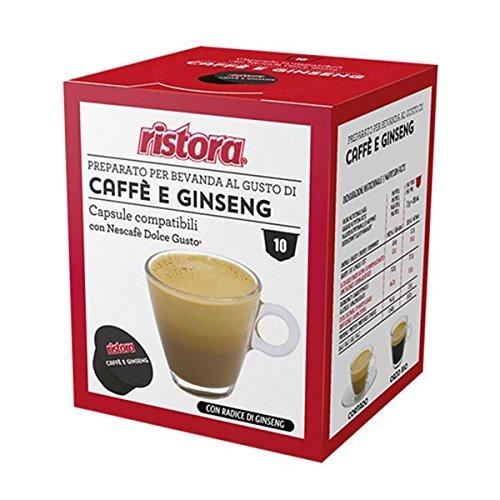 nescaf%C3%A9 dolce gusto capsule compatibili  40 Cialde Capsule Compatibili Dolce Gusto Ristora Caffe' e Ginseng ...