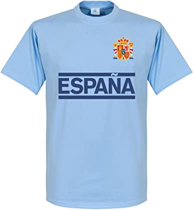 Retake España Casillas Team - Camiseta de manga corta, color azul ...