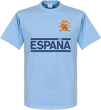 Retake España Casillas Team - Camiseta de manga corta, color azul, Unisex adulto, azul celeste, large: Amazon.es: Ropa y accesorios