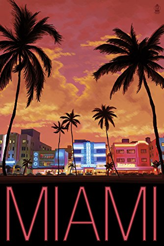 South Beach Miami, Florida (16x24 Giclee Gallery Print, Wall Decor Travel Poster)