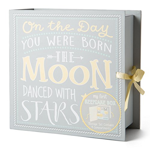 1st Tooth Box - TCD Baby Keepsake Boxes - Various Designs (Moon & Stars)