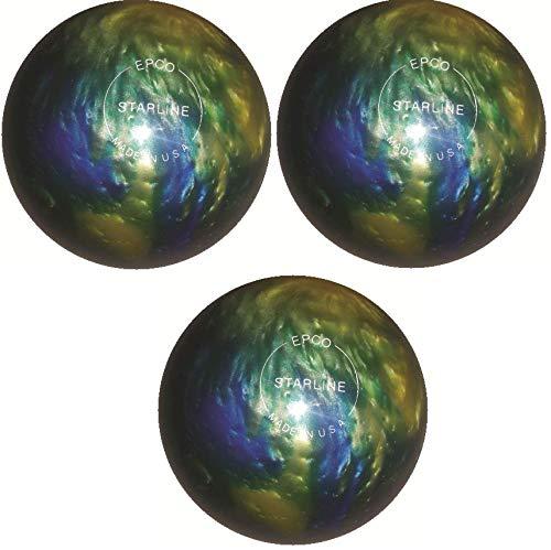 EPCO-Duckpin-Bowling-Ball-Starline-Topaz-Blue-Pearl-3-Balls