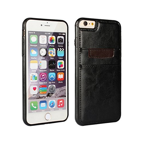 """iPhone 6 Plus / iPhone 6s Plus Wallet Case - Premium Leather Slim Wallet Mobile Accessory for iPhone 6+/6s+ (5.5"""") by DRUnKQUEEn - Ultra Slim Protective Bumper Credit Card Phone Cover"""