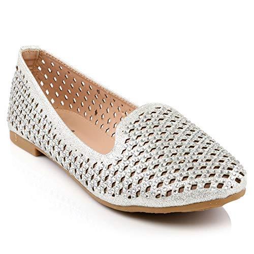 Slipons Pompes Shoes Shalimar Décoré Femmes Au Plat Chaussures Confort Décontracté Quotidien Taille 3 Ballerine Pour Cristaux rvq7qfn
