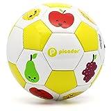 Picador Cute Cartoon Design Soccer Ball Size 3 for Kids (Fruit Yellow)