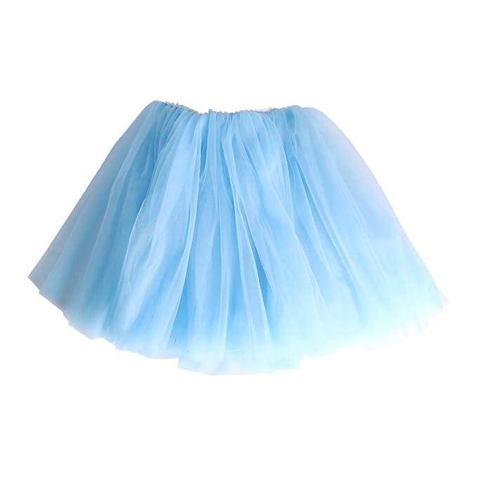 Andux Zone Falda de Tul Tutú Gasa Faldas Vestido Princesa Hada ...
