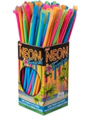 Regal, Neon Tropical Candy Straws, Candy Powder Filled Straws 120 Count