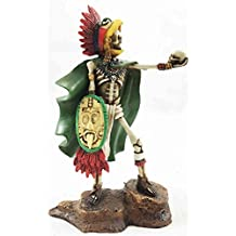 Tenochtitlan Aztec Eagle Warrior Skeleton Day of The Dead Sculpture Figurine