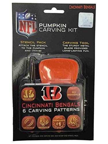 Cincinnati Bengals NFL Topperscot Team Logo Halloween Pumpkin Carving Kit