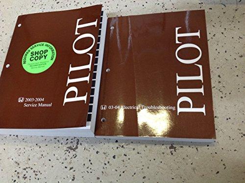 2003 2004 Honda PILOT Service Repair Shop Workshop Manual Set W 2003-2004 ETM (Manual Service Honda Pilot Shop)