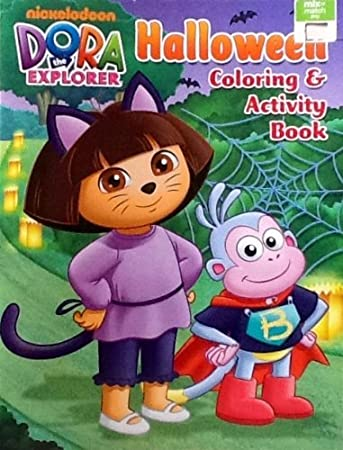 Dora The Explorer Halloween Coloring Activity Book 32 Pages