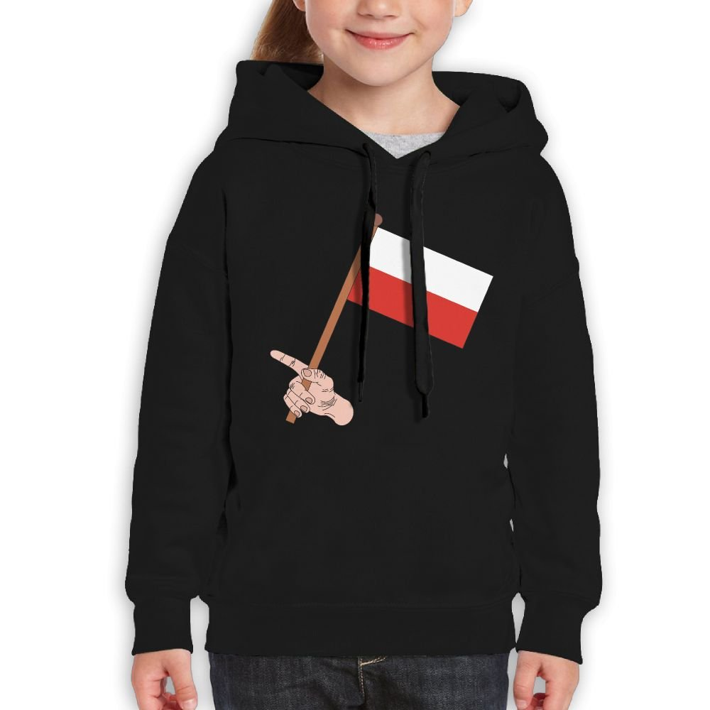 DTMN7 Poland Flag Athletic Printed O-Neck Blouses For Teen Girl Spring Autumn Winter