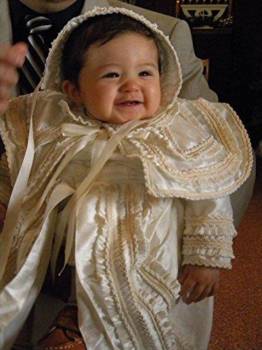 Heirloom Baby Boy's Christening Baptism Gown, Hand Made Ivory (Burbvus Ropones) by Burbvus (Image #3)