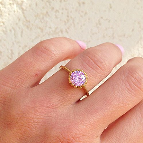 engagement triplet ring bissett collections rings october grande kate birthstone ny pink