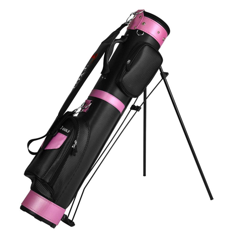 ゴルフクラブケース 防水と防水ゴルフトラベルバッグPUゴルフバッグゴルフガンバッグ男性と女性のために置くことができます9クラブ ゴルフバッグ (色 : ピンク, サイズ : 90*27*15cm) B07S2C3WCM ピンク 90*27*15cm