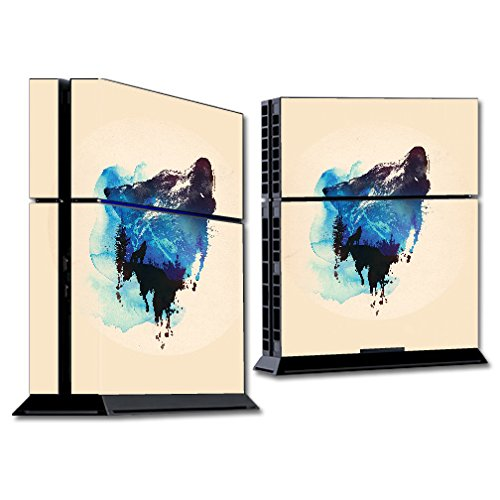 MightySkins Skin Compatible with Sony PS4 Console - Lone Wolf | Protective, Durable, and Unique Vinyl Decal wrap Cover | Easy to Apply, Remove, and Change Styles | Made in The USA