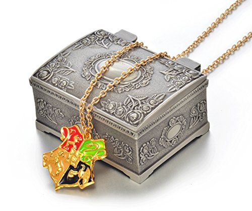 LOOMEN Harry Potter Themed Collection (Hogwarts House Crest Necklace w/ Jewelry - Theodore Harry Potter