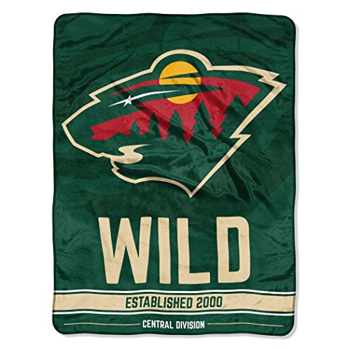The Northwest Company Officially Licensed NHL Minnesota Wild Break Away Micro Raschel Throw Blanket, 46