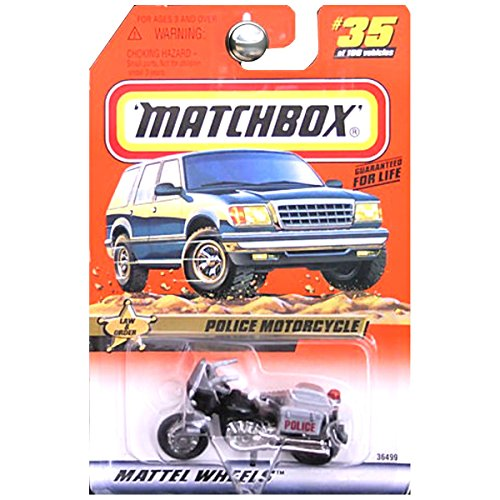 Matchbox 1999-35 Law & Order Police Motorcycle 1:64 Scale