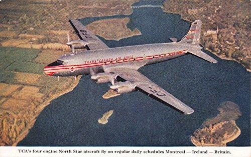 Postcard TCA Trans-Canada Air Lines North Star Aircraft in Flight~117736