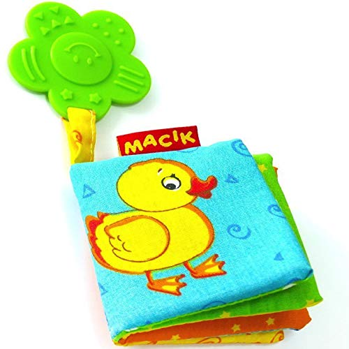 MACIK Baby Activity Book and Teething Toys - Infant developmental toys - 6 month baby toys - Toys for Babies 6-12 months - Baby Teething Toys for Boys Girls - Baby toys 6 to 12 months - Infant toys
