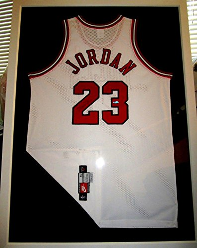 Michael Jordan Autographed Jersey - white Nike game model...