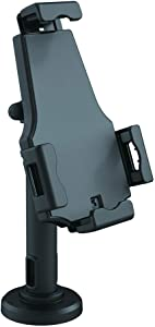 Pyle PSPADLK8 Anti-Theft Tablet Security Stand Kiosk - Table Mount Desktop Tablet Case Holder with Lock, Adjustable Clamp Arm, Internal Cable Routing, for iPad, Kindle, Samsung, Android Tablets