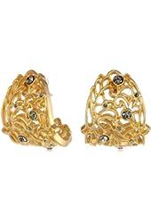 T Tahari Lace J Hoop Earrings