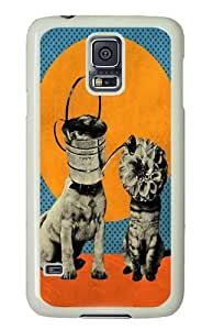 Cats Dogs Custom Samsung Galaxy S5/Samsung S5 Case Cover Polycarbonate White