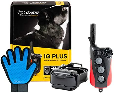 Dogtra Extreme Consumer Products IQ Plus Training Collar with Remote – Pet Smart Collar for Dogs – 1 4 Mile Signal Range – Includes Soft Silicone Pet Grooming Glove