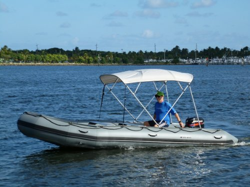 Saturn 4 Bow Bimini Top Sun Shade For Inflatable Boats