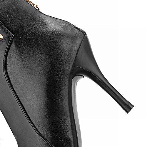 Tacco Piede Moda Nero Donna Scarpe Elegante col Alto MissSaSa wOzagqv