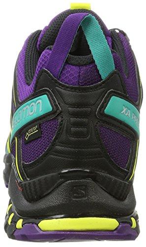 Salomon XA Pro 3D GTX W, Zapatillas de Trail Running Para Mujer Morado (Acai/Black/Dynasty Green 000)