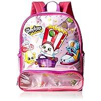 Mochila de 12 pulgadas para niñas Shopkins con compartimiento para juguetes, rosa, sin talla