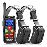 Cheap Petutor Dog Training Collar for 2 Dogs 1800ft Remote Waterproof Rechargeable Electric Shock Collar with Beep/Vibration/Shock Modes for Small Medium Large Dogs [2018 New Version]